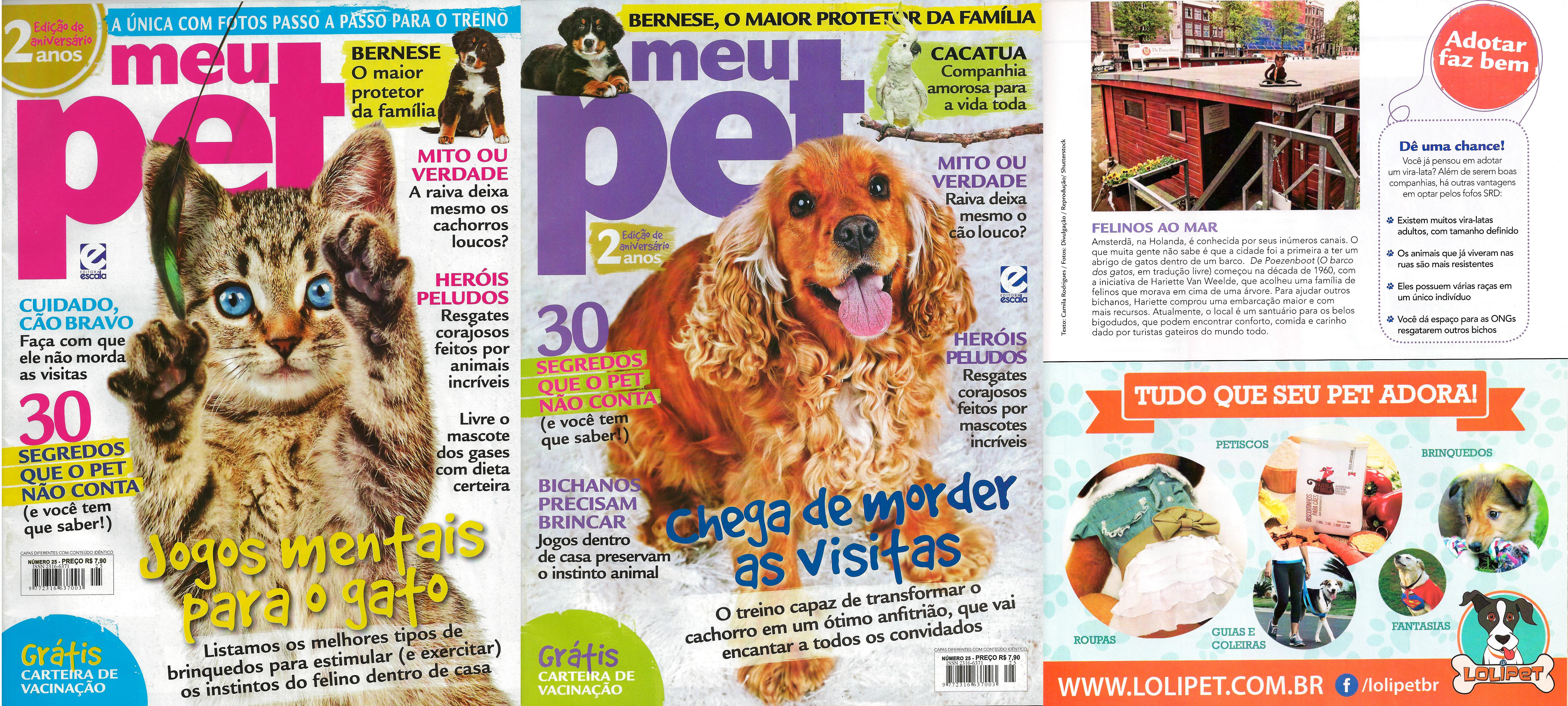 Saiu na mídia – Revista Meu Pet Agosto