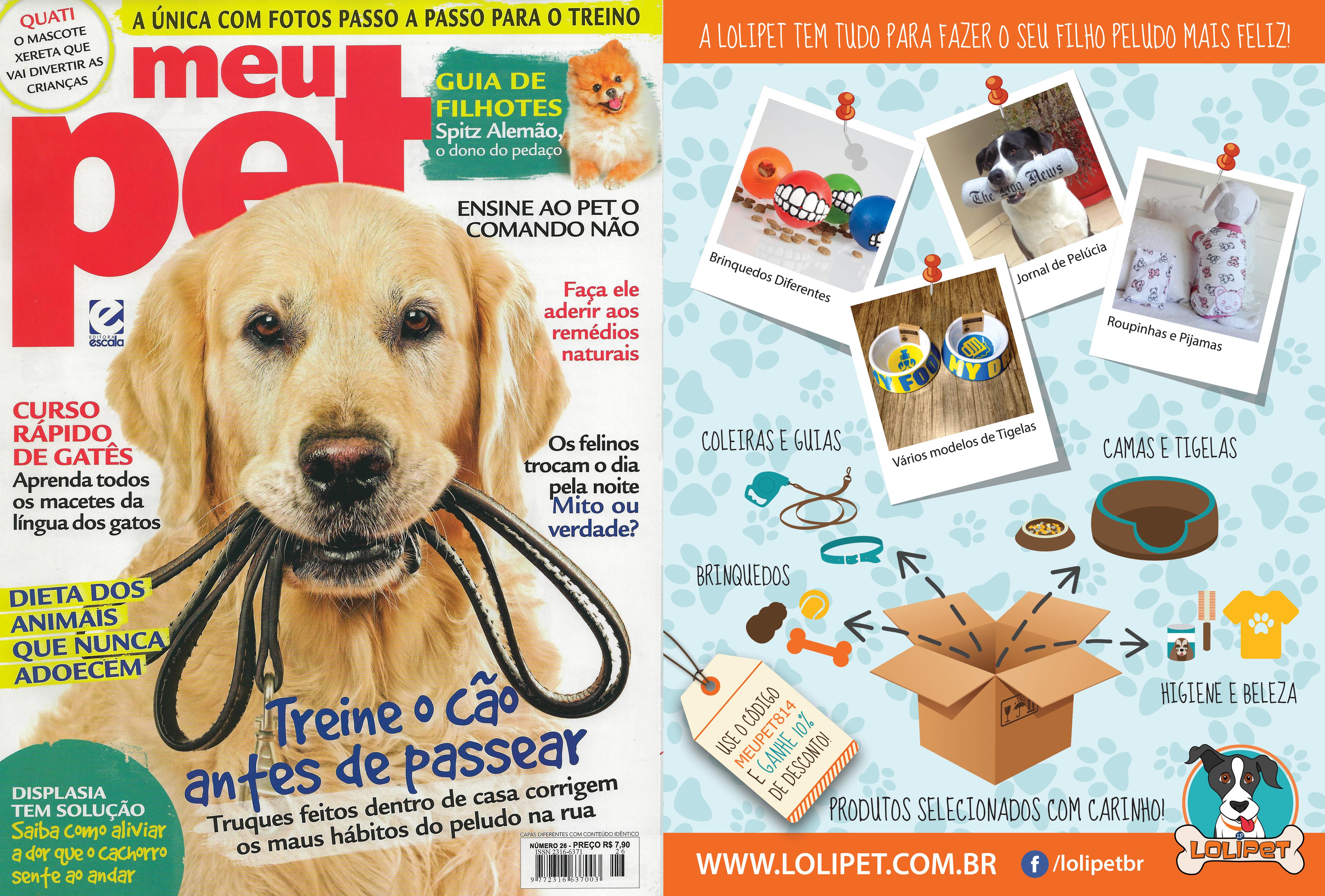 Saiu na mídia – Anúncio Revista Meu Pet Setembro 2014