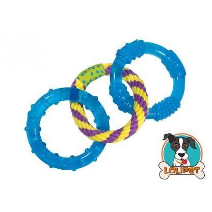 Brinquedo Petstages Anéis Orka Dental Links para Cães