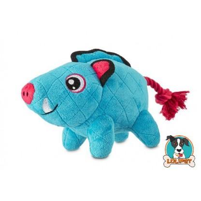 Brinquedo para Cães Resistente de Pelúcia com Corda Javali Tough M