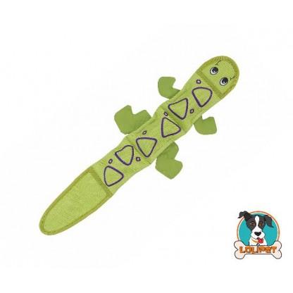 Brinquedo Resistente para Cães Invincibles® Fire Biterz Salamandra Verde 3sqk