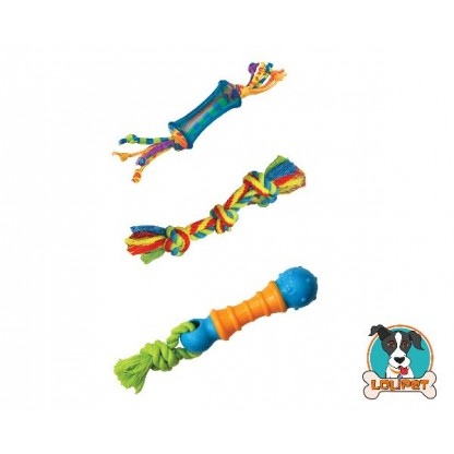 Kit com 3 Mordedores para Cães de Porte Pequeno Dental Chew Pack - Petstages
