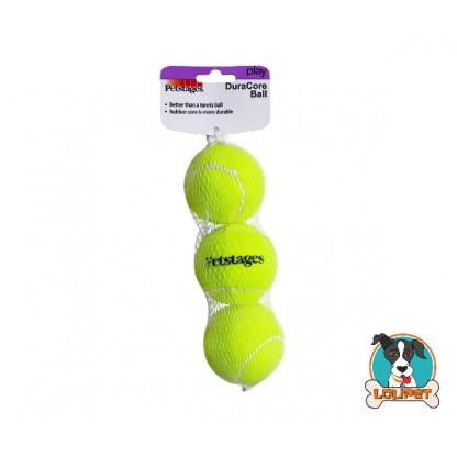 Kit com 3 Bolas de Tênis resistentes para Cães Petstages