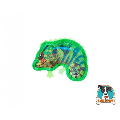 Brinquedo Ultrarresistente para Cães Invincibles® Tough Skinz Mini Camaleão