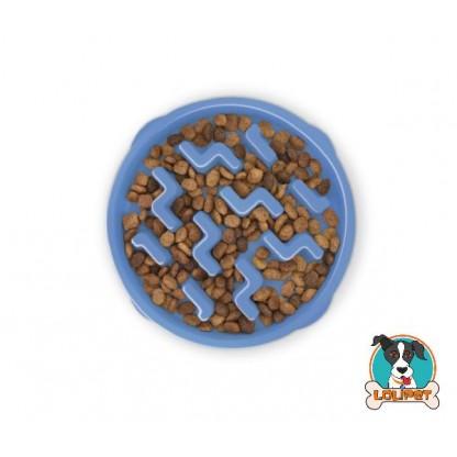 Comedouro Lento Fun Feeder para Cães Azul (NOVO)