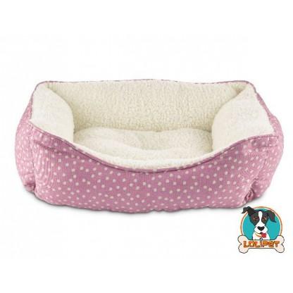 Cama para Cães e Gatos Rosé com Bolinha PP