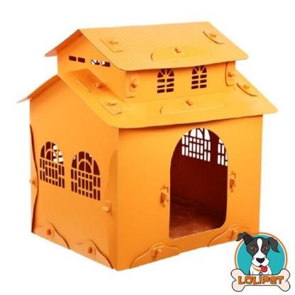 Casinha com Telhado Duplo para Cães