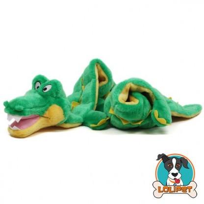 Brinquedo Mega Squeaker Jacaré Gigante