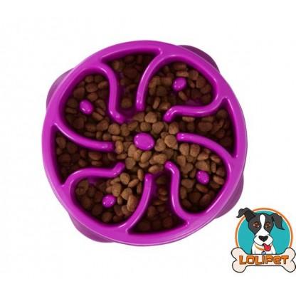 Comedouro Lento Fun Feeder Mini para Cães Roxo