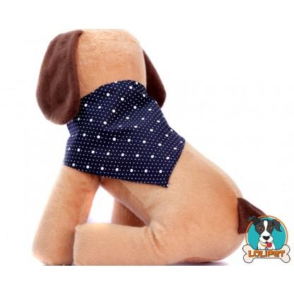 Bandana com Estampa de Bolinhas para Cães e Gatos