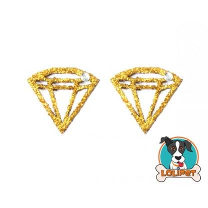 Bijuteria Adesiva de Diamante com Glitter para Pets - Pity Biju