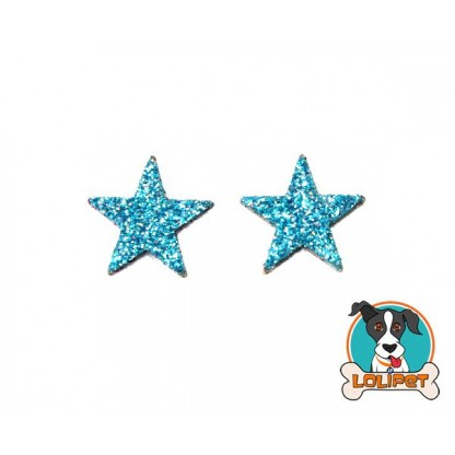 Bijuteria Adesiva Estrela Mini com Glitter para Pets - Pity Biju