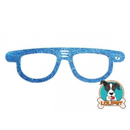 Bijuteria Adesiva para Pets Óculos Carrera com Glitter - Pity Biju