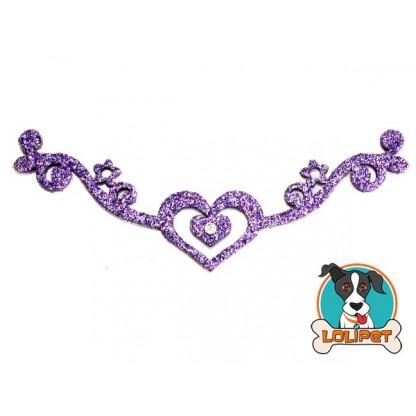 Bijuteria Tiara ou Gargantilha de Coração para Pets - Pity Biju