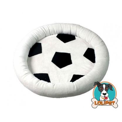 Cama com Estampa de Bola de Futebol para Cães