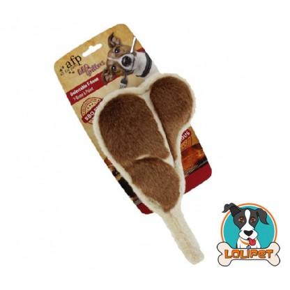 Brinquedo de Pelúcia para Cães com Apito Bisteca Carne de Churrasco