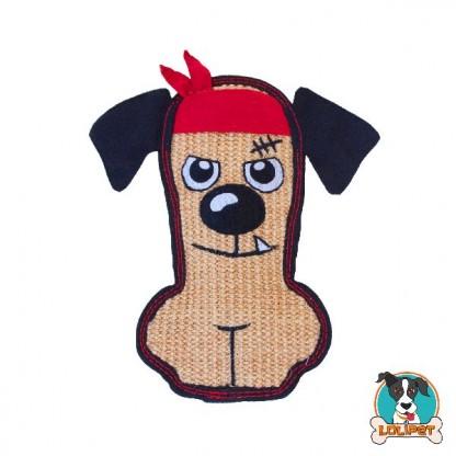 Brinquedo Ultrarresistente para Cães Invincibles® Tough Seamz Sisal Cachorro de Bandana