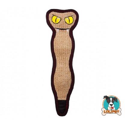 Brinquedo Ultrarresistente para Cães Invincibles® Tough Seamz Sisal Serpente