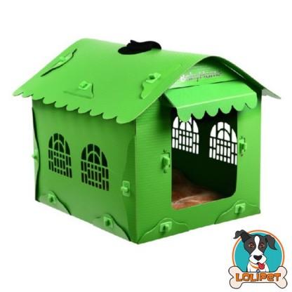 Casinha para Cães com Toldo Verde