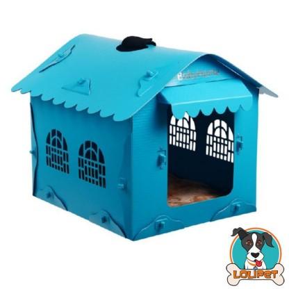 Casinha para Cães com Toldo Azul