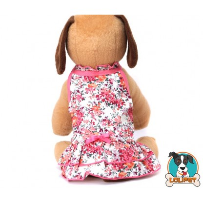 Vestido de Festa para Cães com Estampa Floral da Dobaz