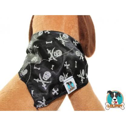 Bandana Pirata Halloween com Aplicação de Glitter para Cães e Gatos