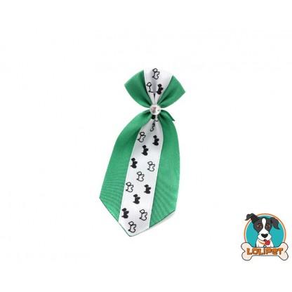 Gravata De Cetim Estampado Verde