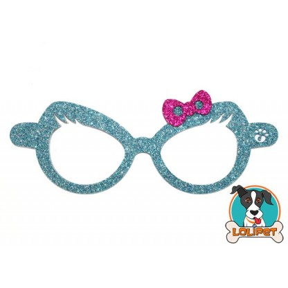 Bijuteria Adesiva para Pets Óculos Lacinho com Glitter - Pity Biju