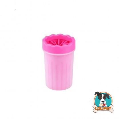 Copo Lava Patas Rosa de Silicone