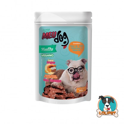 Petisco Vegano Meu Dog Healthy Frutas - 60grs