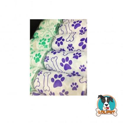 Refil Cata Caca para Cães com 160 Saquinhos Estampados Azul e Verde