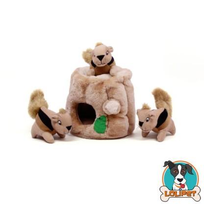Brinquedo Toca de Esquilo Hide-a-Squirrel para Cães