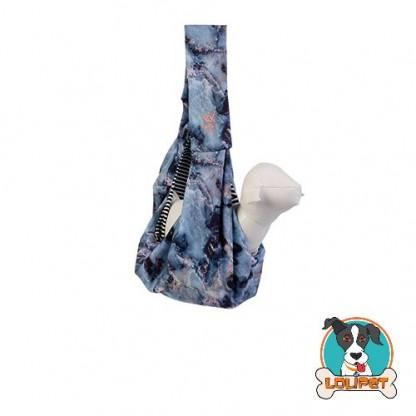 Bolsa Sling para Transporte de Cães e Gatos WOOF Empire Azul