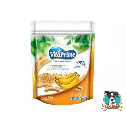 Biscoito Natural para Cães VitaPrime Sabor Banana, Cereais e Quinoa - 200 g