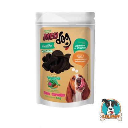 Petisco Vegano Meu Dog Healthy Vegetais - 60grs