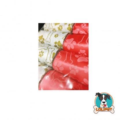 Refil Cata Caca para Cães com 160 Saquinhos Estampados Vermelho e Branco