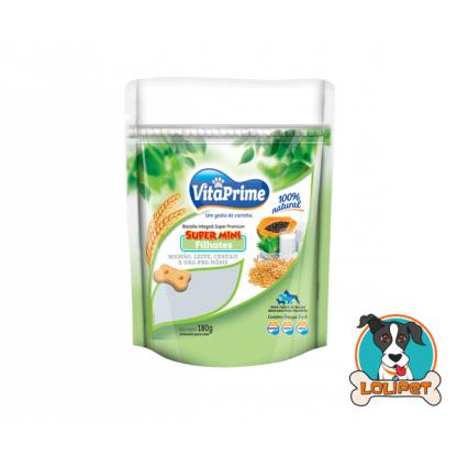 Biscoito Natural SUPER MINI para Filhotes de Cães VitaPrime Mamão, Leite, Cereais e Ora-pro-nóbis